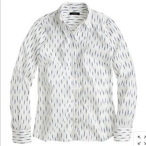 J. Crew Perfect Shirt in Dash-Dot Ikat